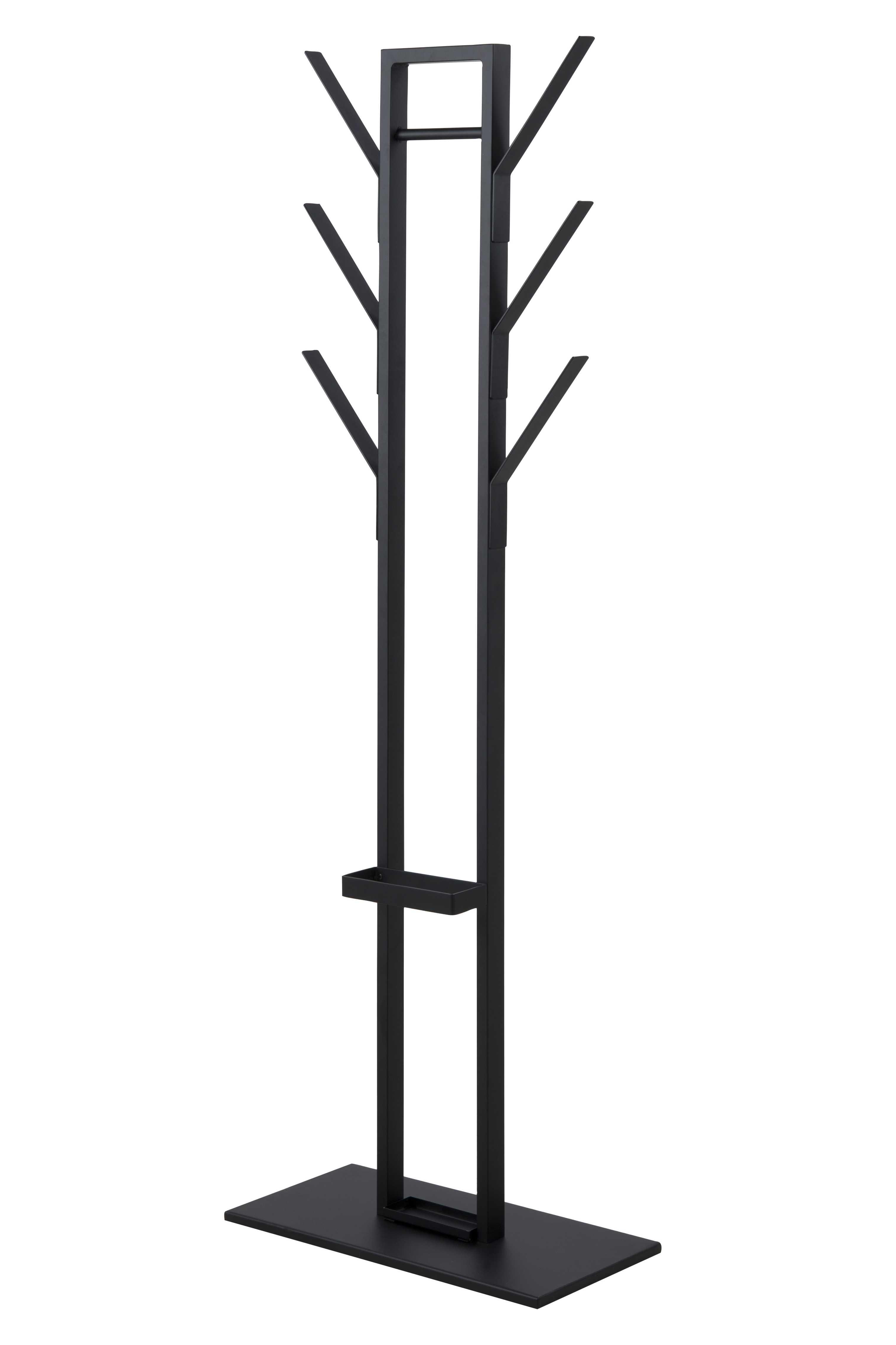 Vinson stumtjener - sort metal, inkl. paraplyholder