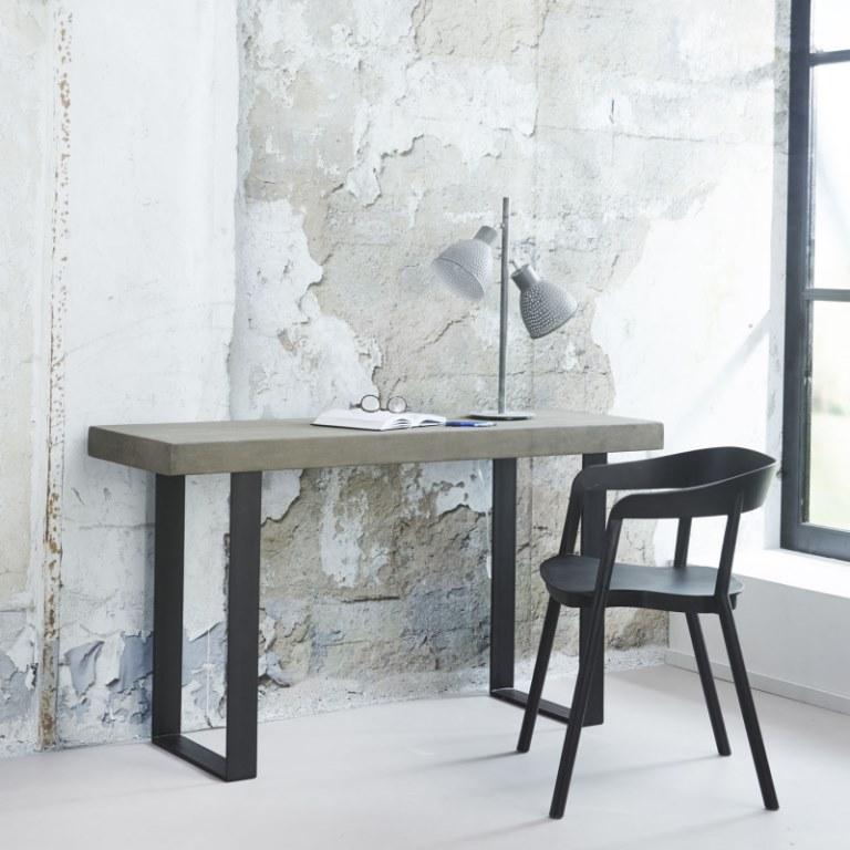 Image of   FURBO Konsolbord, beton look, 140 x 45 cm