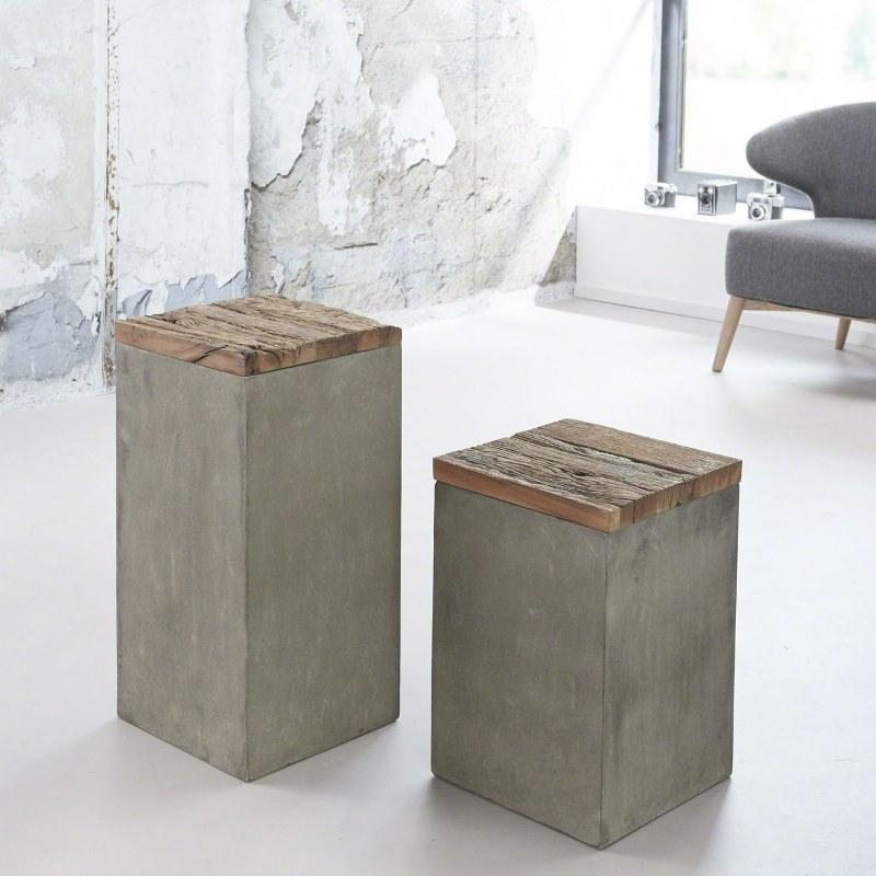 Image of   Furbo Blomsterstander, beton, højde 45 cm