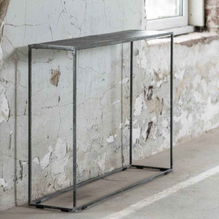 Image of   FURBO Konsolbord, sort nikkel, sandblæst, 110 x 25 cm