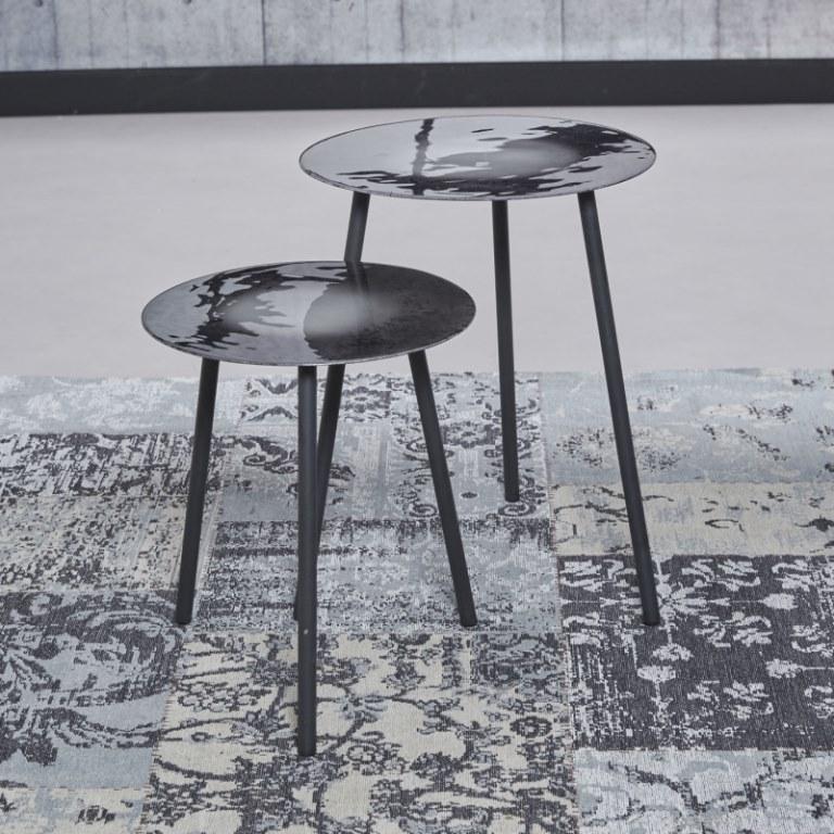 Billede af Furbo Sofabordssæt, grå emaljeret stål