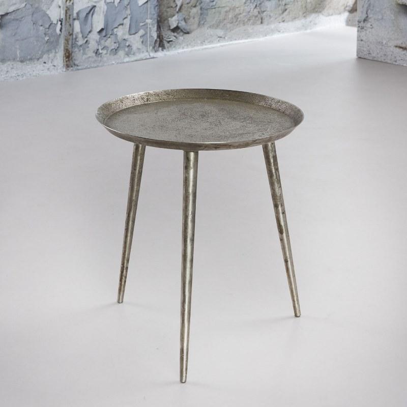 Billede af FURBO Sofabord, rundt ø 40 cm, antik sølv finish