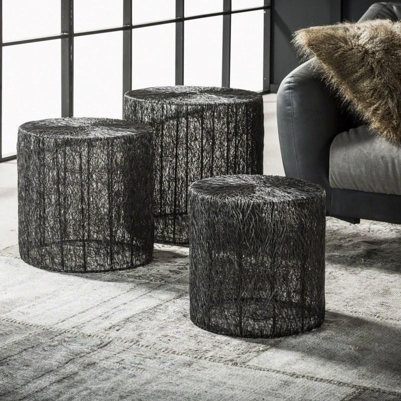 Furbo sofabordssæt - sort nikkel (sæt m. 3) fra furbo på boboonline.dk