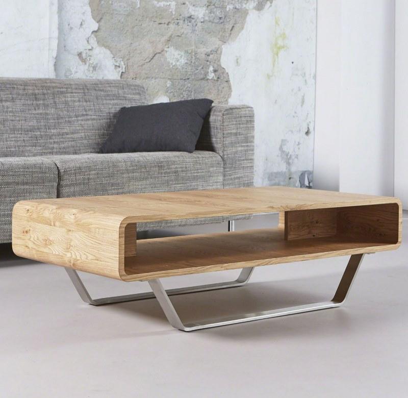 Furbo sofabord, fineret eg med metalben, 60 x 120 cm