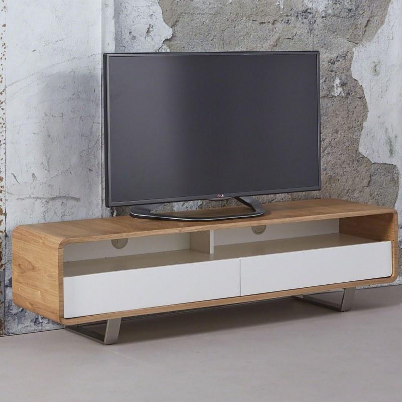 Image of   FURBO TVbord, massiv eg med metalben, 40 x 150 cm