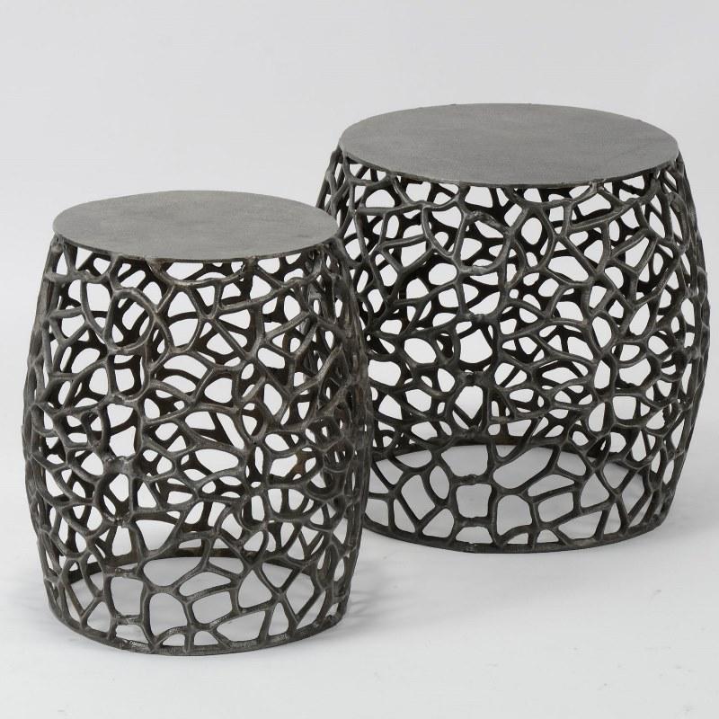 Furbo sofabordssæt - sort nikkel, runde (sæt m. 2) fra furbo fra boboonline.dk