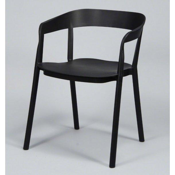 Furbo Spisebordsstol, sort plast