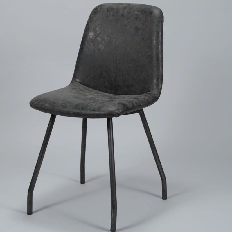 furbo – Furbo spisebordsstol, stål og sort læder på boboonline.dk