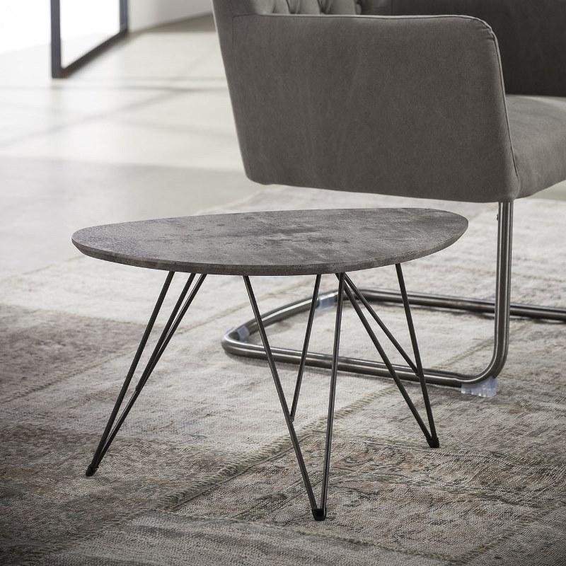 Billede af Furbo Sofabord nyreformet, beton look, 40 x 60 cm