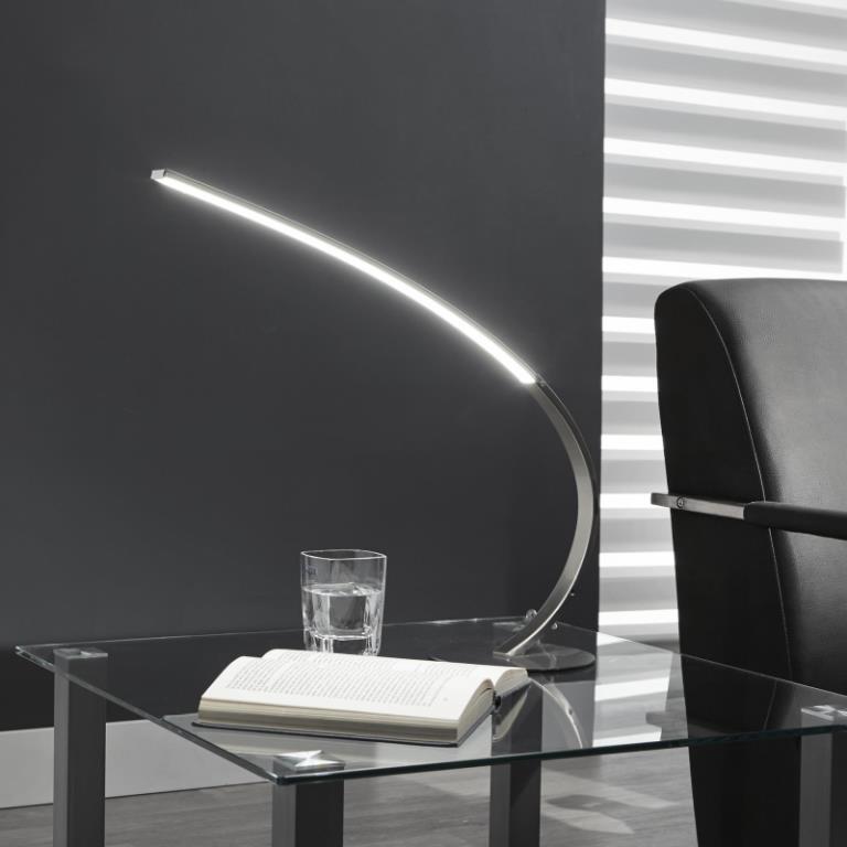 Billede af FURBO Bordlampe,LED, mat nikkel