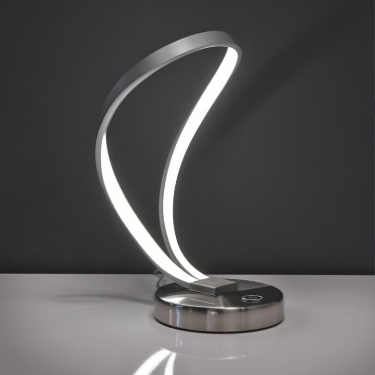 Billede af FURBO Bordlampe, LED, mat nikkel, med lys dæmper