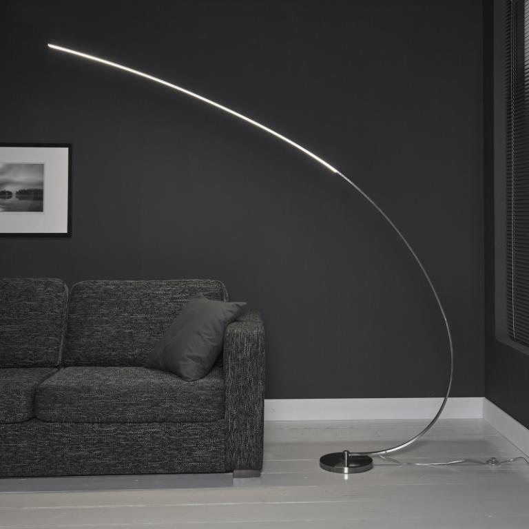 Image of   FURBO Gulvlampe, LED, mat nikkel