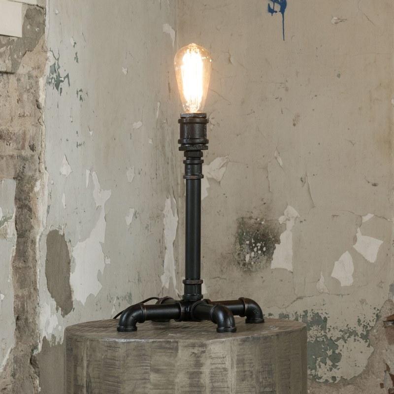 Image of   FURBO Bordlampe, industriel design, sort metal