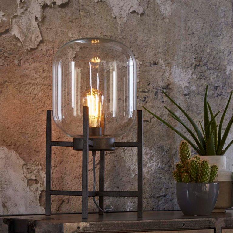 Billede af FURBO Bordlampe, antik sølv og glas