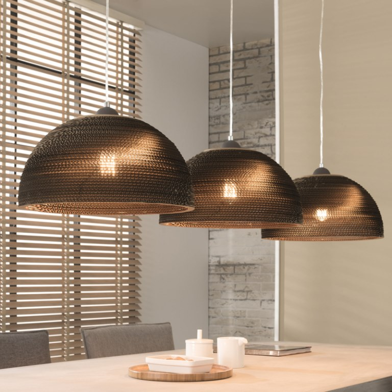 furbo loftslampe, brun skærm fra furbo
