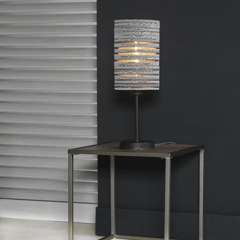 Image of   FURBO Bordlampe, metal, hvid skærm