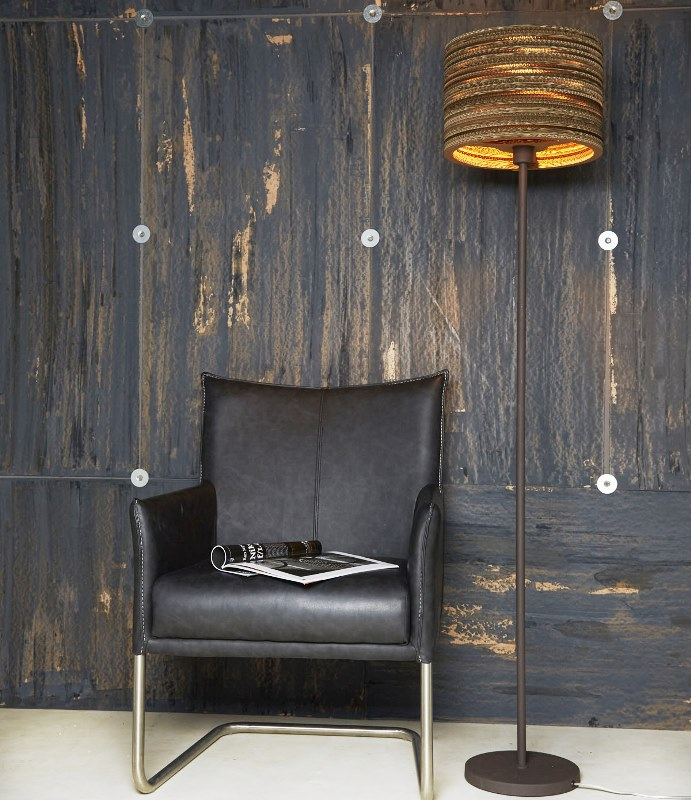 Image of   FURBO Gulvlampe, metal, brun skærm