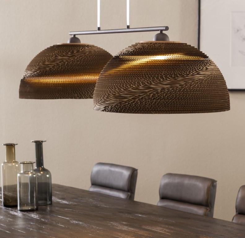 Image of   FURBO Loftslampe, brun skærm