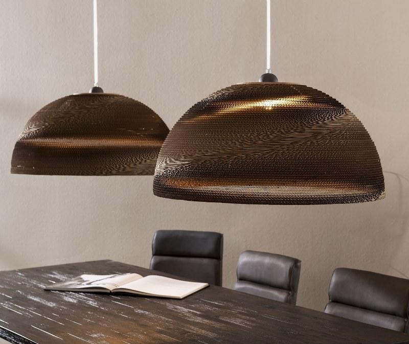 FURBO Loftslampe, brun skærm
