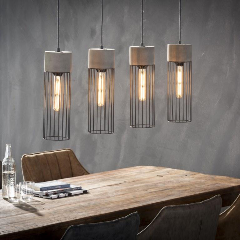 Image of   FURBO Loftslampe, beton, stål
