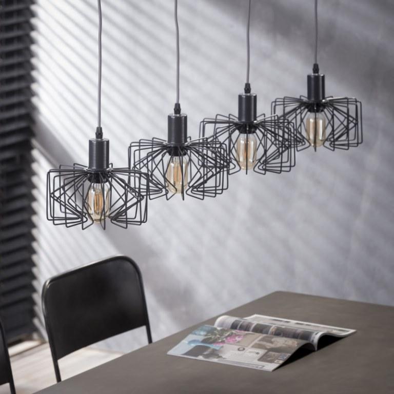 Image of   FURBO Loftslampe, 4 grå lamper