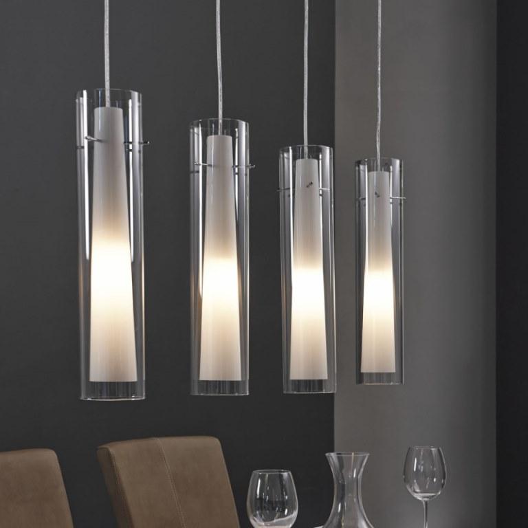 Billede af FURBO Loftslampe, glas, mat nikkel