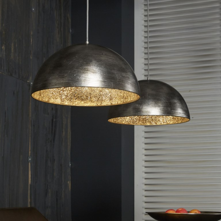 Image of   FURBO Loftslampe, antik sølv finish, spejl effect
