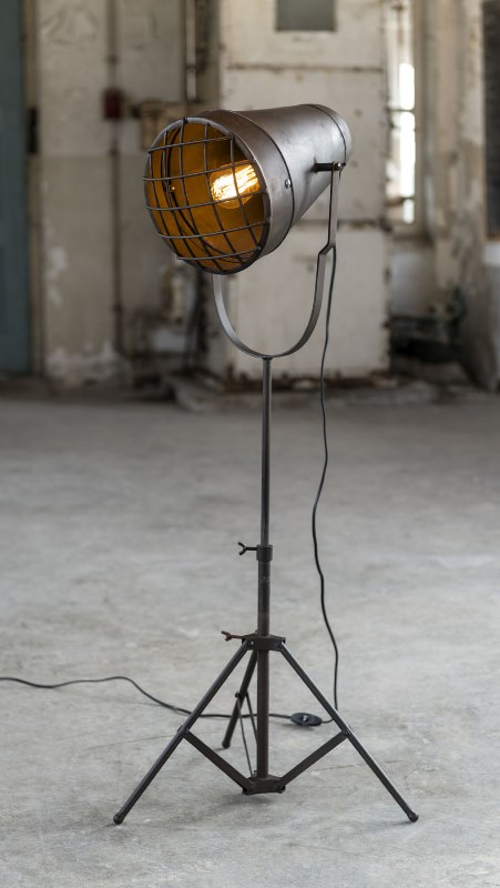 Image of   FURBO Gulvlampe, industriel look, antik bronze
