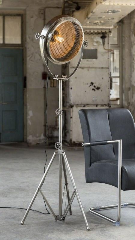 Image of   FURBO Gulvlampe, antik nikkel
