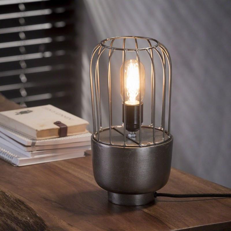 Billede af FURBO Bordlampe, industriel design, sort nikkel, højde 31 cm