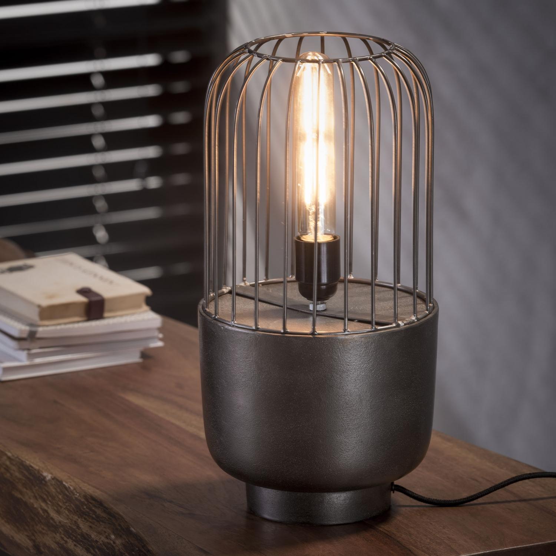 Billede af FURBO Bordlampe, industriel design, sort nikkel, højde 41 cm