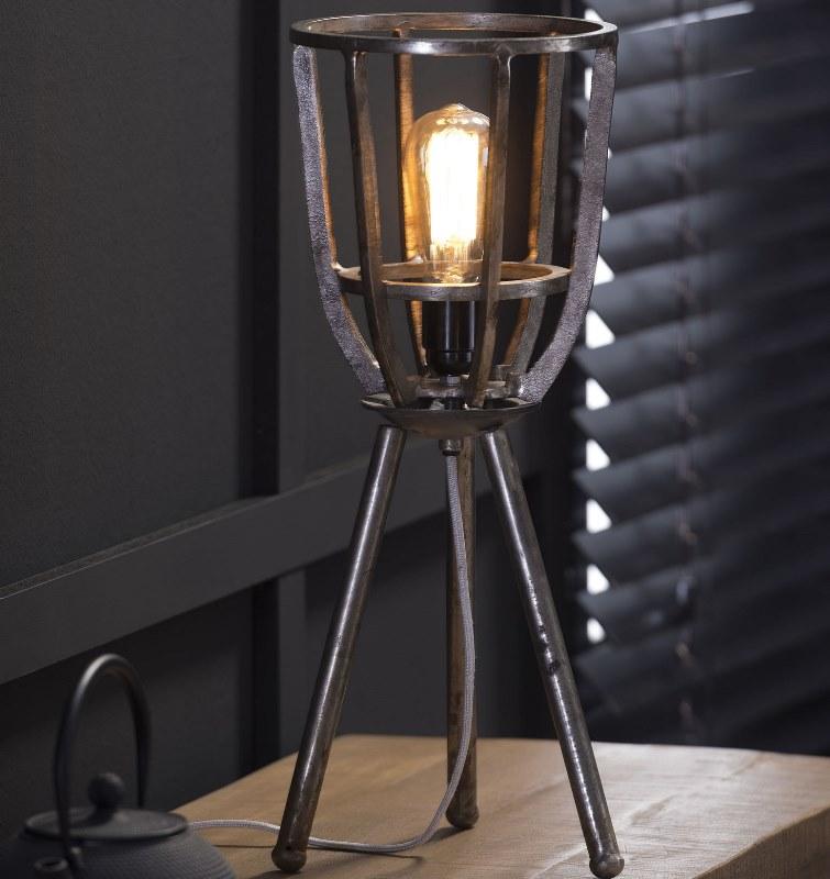 Billede af FURBO Bordlampe, industriel design, sort nikkel, højde 51 cm