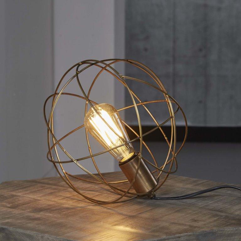 Billede af FURBO Rund trådlampe, antik bronze