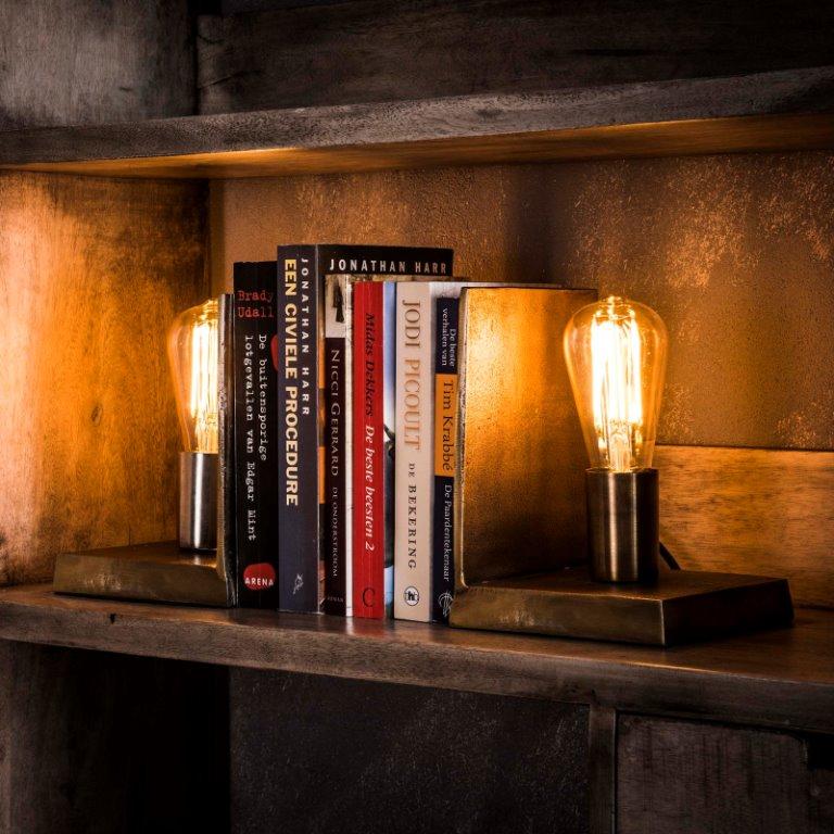 Billede af FURBO Bordlampe sæt, antik bronze