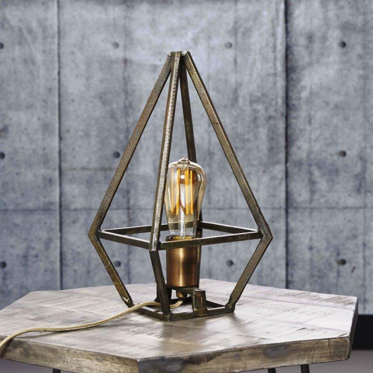Image of   FURBO Bordlampe, industri design, antik bronze