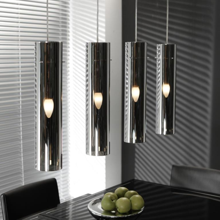 Image of   FURBO Loftslampe, forkromet glas