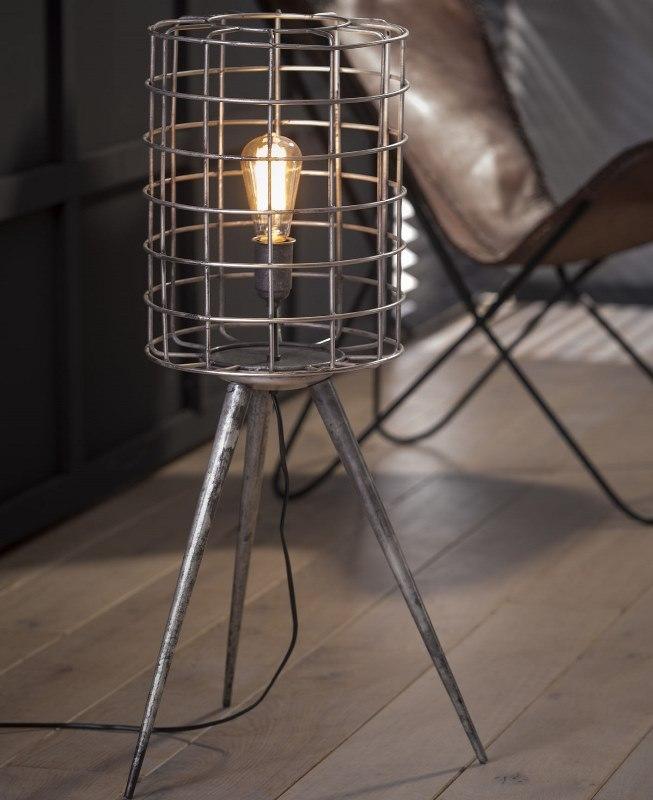 furbo Furbo gulvlampe, patineret sølv fra boboonline.dk
