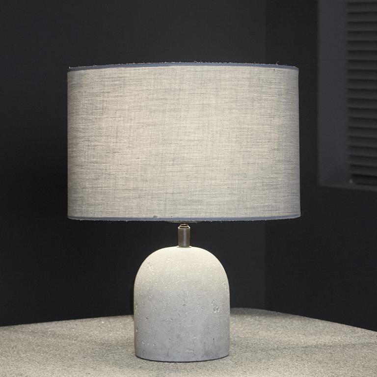 Image of   FURBO Bordlampe, beton, stofskærm