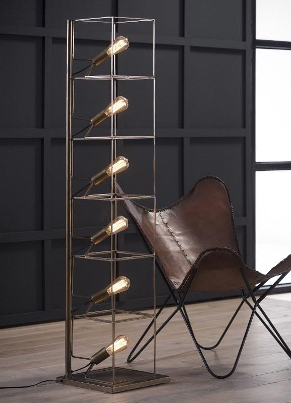 Image of   FURBO Kubistisk gulvlampe, antik bronze