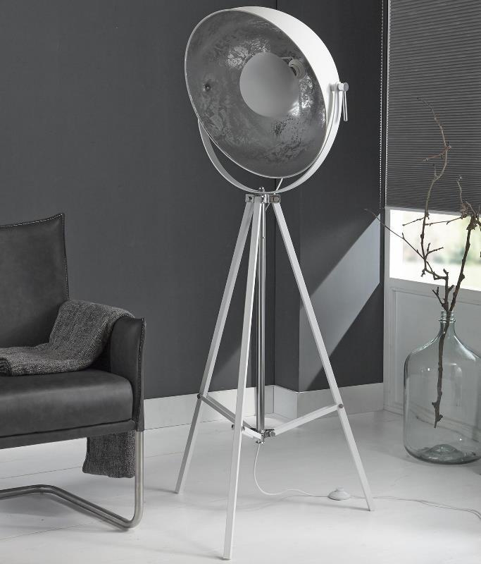 Image of   FURBO Gulvlampe, hvid metal