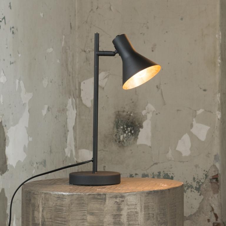 Billede af FURBO Arkitekt bordlampe, sort med guld