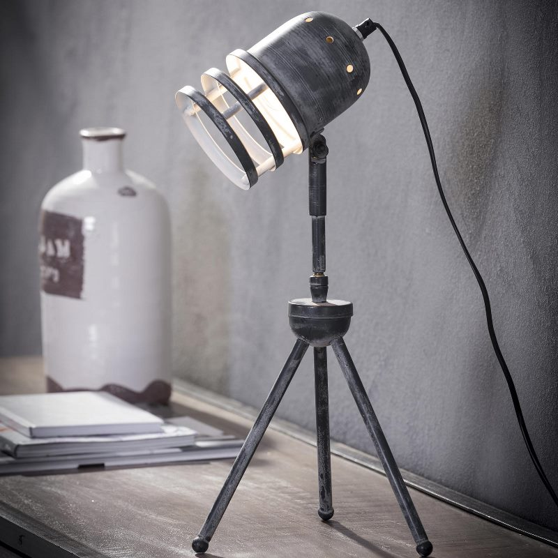 Image of   FURBO Bordlampe, patineret grå metal