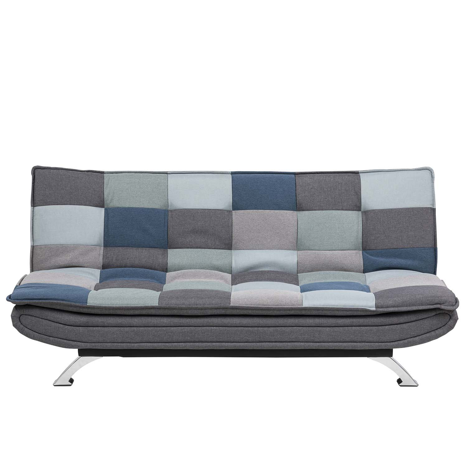 ACT NORDIC Faith sovesofa - multifarvet polyester og krom metal thumbnail