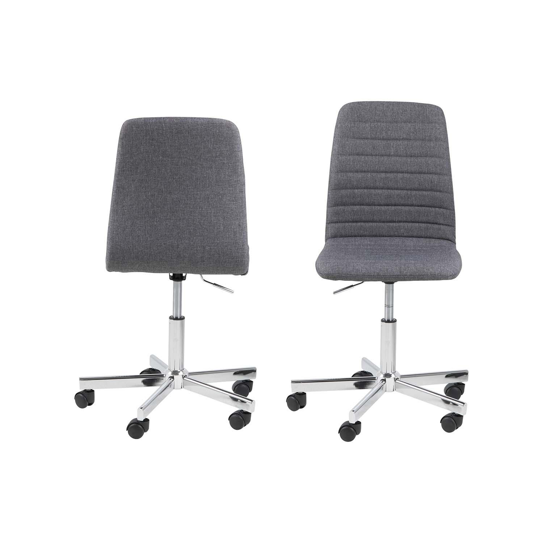 Billede af ACT NORDIC Amanda skrivebordsstol - grå polyester og krom