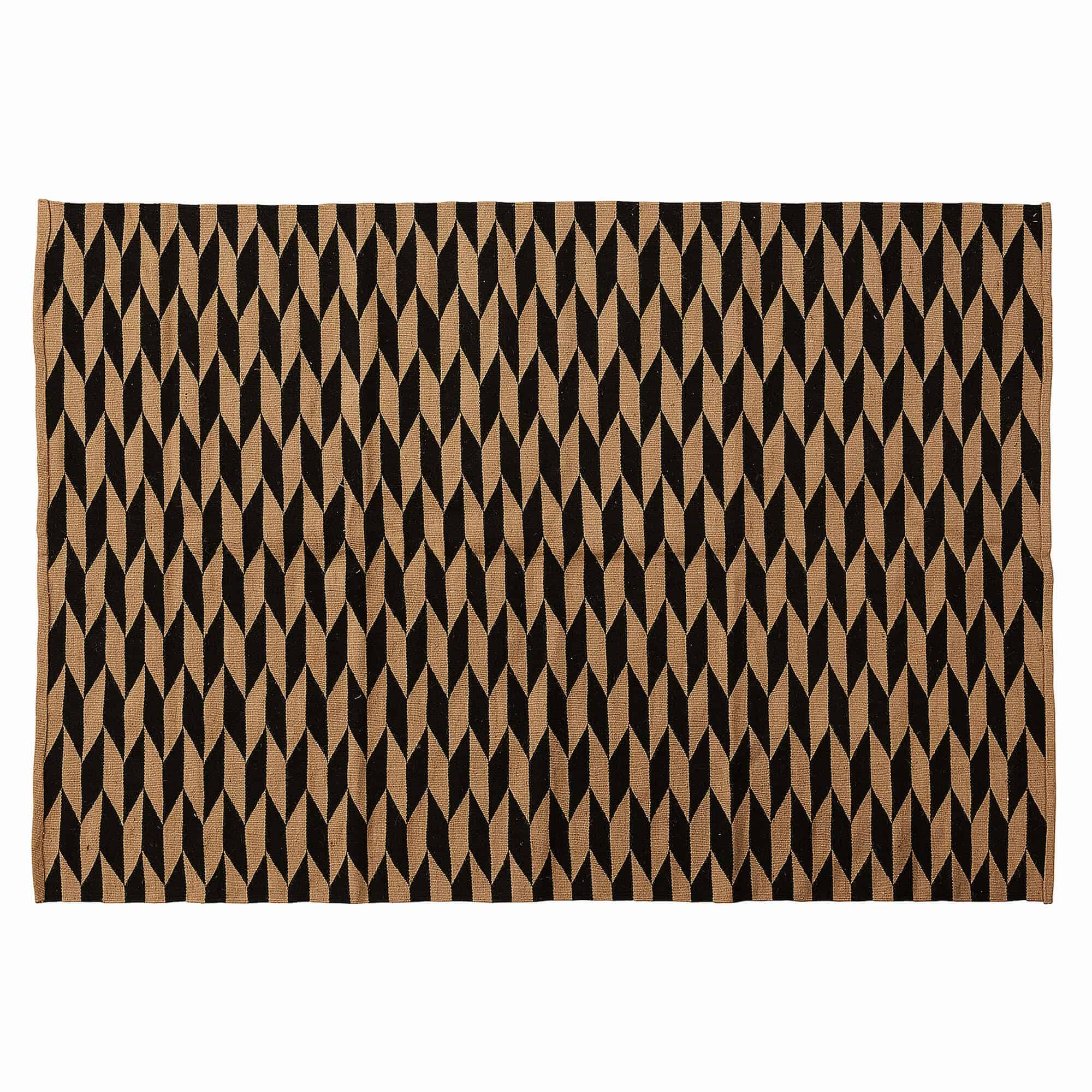 Laforma capsule gulvtæppe - natur/sort jute/bomuld, rektangulær (230x160) fra laforma på boboonline.dk