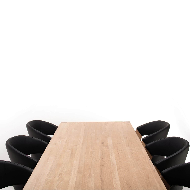 Design By Bobo Design By Bobo Spisebordssæt I Egetræ M. 10 Stole, Afrundede Ben (300X95) - Tillægsplader Muligt Spisestue