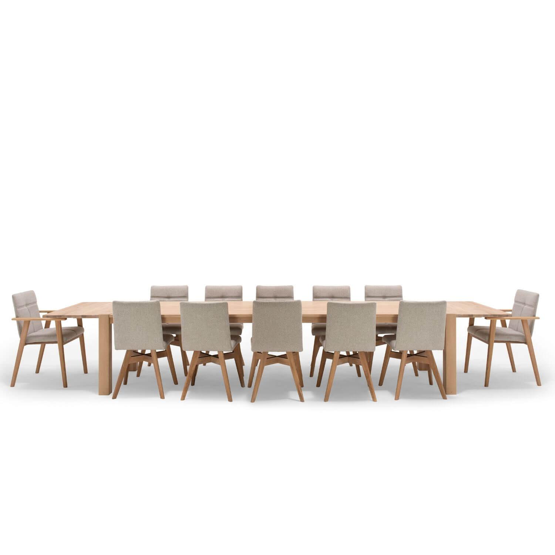 nocnoi – Nocnoi aakjær langbord - massivt vildeg, m. firkantet ben, m. udtræk, (300x95) fra boboonline.dk
