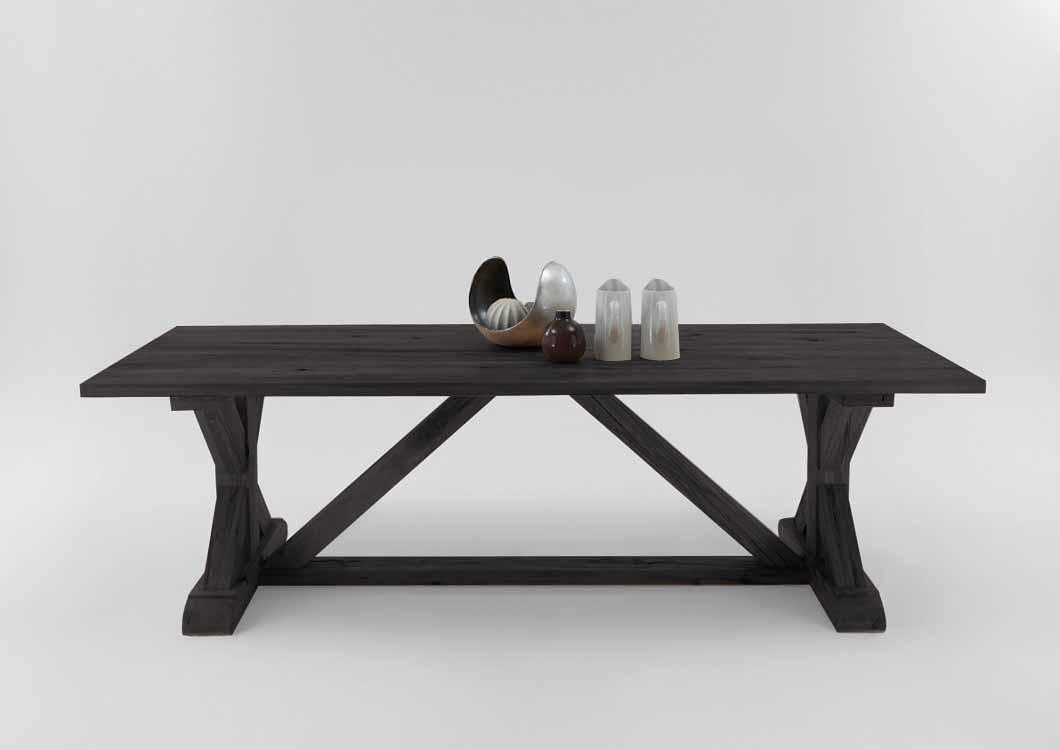 bodahl – Bodahl versailles plankebord - sort egetræ 280 x 110 cm fra boboonline.dk