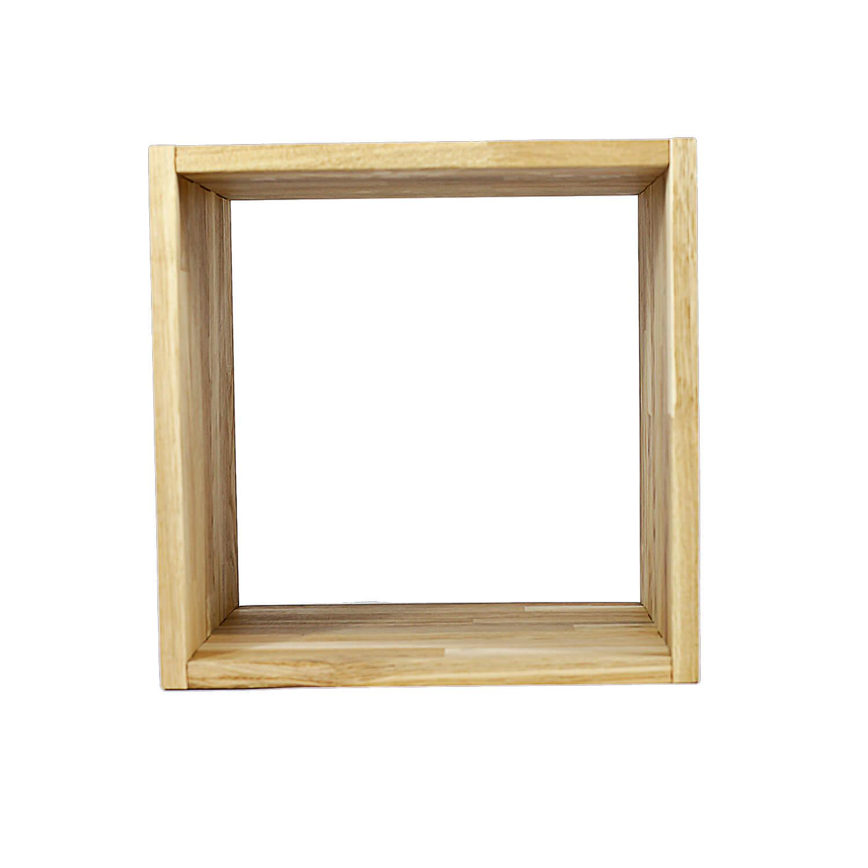 Nocnoi puzzle kvadratisk reol, m. 1 rum - massiv olieret eg, til væg/gulv (36x36) fra nocnoi på boboonline.dk