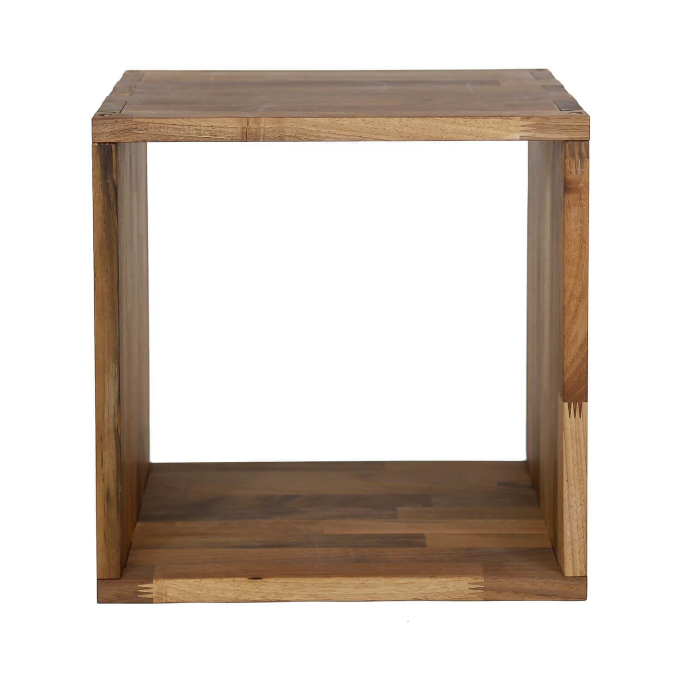 nocnoi Nocnoi puzzle kvadratisk reol, m. 1 rum - massiv olieret valnøddetræ, til væg/gulv (36x36) på boboonline.dk